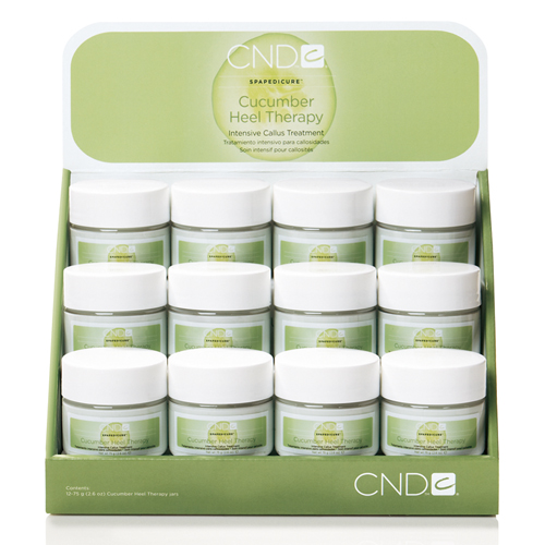 CND キューカンバー ヒール テラピー  キューバエキスの香りがフレッシュ効果をもたらす。かかとやひじに使用する洗い流し不要の保湿クリーム。アロエ、カモミールエキスも配合してさらに保湿効果を高めます。 / 1本 15g¥1080(税込)